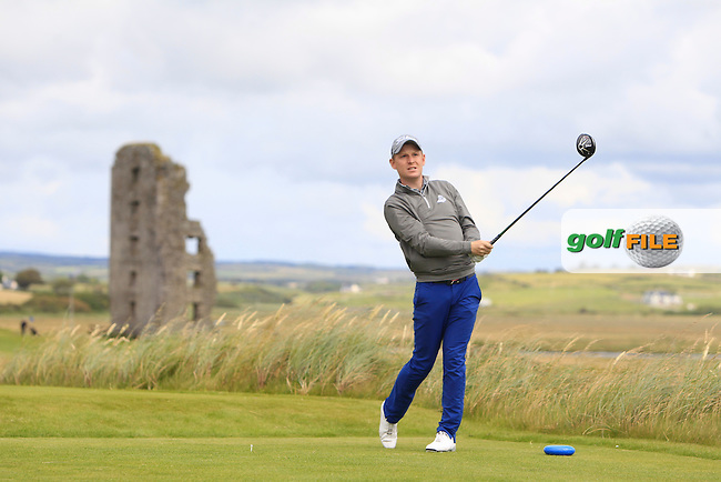Geoff Lenehan (Portmarnock) on the 13th tee during Matchplay Round 1 of the South of Ireland Amateur Open Championship at LaHinch Golf Club on Friday 24th July 2015.<br /> Picture:  Golffile | Thos Caffrey