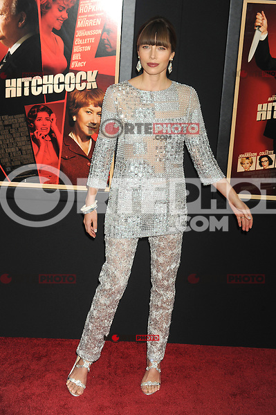 NEW YORK, NY - NOVEMBER 18: Jessica Biel at the 'Hitchcock' New York Premiere at Ziegfeld Theatre on November 18, 2012 in New York City. Credit: mpi01/MediaPunch inc. NortePhoto