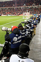 Toronto, ON, Canada - Saturday Dec. 10, 2016: Photographers during the MLS Cup finals at BMO Field. The Seattle Sounders FC defeated Toronto FC on penalty kicks after playing a scoreless game.