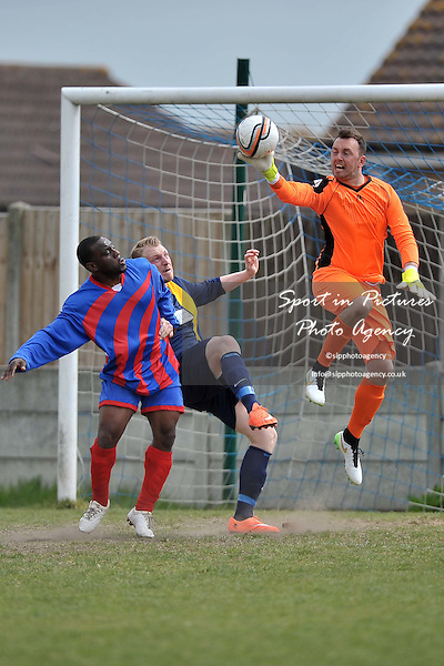 Thamesview v Barking Borough. Premier Division Cup. Romford and District Football League. Aveley FC. Essex. 02/05/2015. MANDATORY Credit Garry Bowden/Sportinpictures - NO UNAUTHORISED USE - 07837 394578
