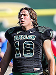 Baylor Bears tight end Jordan Najvar (18) in action during the game between the Southern Methodist Mustangs and the Baylor Bears at the Floyd Casey Stadium in Waco, Texas. Baylor defeats SMU 59 to 24.