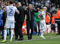 Bolton Wanderers' manager Phil Parkinson remonstrates after receiving a red card <br /> <br /> Photographer Andrew Kearns/CameraSport<br /> <br /> The EFL Sky Bet Championship - Leeds United v Bolton Wanderers - Saturday 23rd February 2019 - Elland Road - Leeds<br /> <br /> World Copyright © 2019 CameraSport. All rights reserved. 43 Linden Ave. Countesthorpe. Leicester. England. LE8 5PG - Tel: +44 (0) 116 277 4147 - admin@camerasport.com - www.camerasport.com