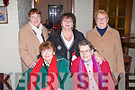 CHRISTMAS TIME: Having a great time at the active retirement Christmas dinner at the John Mitchels clubhouse, Tralee on Saturday seated l-r: Margaret Tuohy and Jude Miller. Back l-r: Patsy O'Shea, Margaret Powell and Kathleen Hennessey.