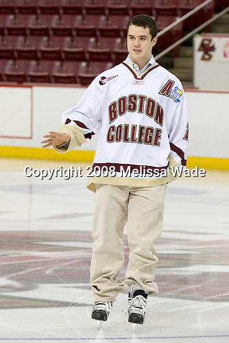 Dan Bertram (BC 22) - The Boston College Eagles celebrated their NCAA D-1 National Championship with their fans at Kelley Rink in Conte Forum in Chestnut Hill, Massachusetts on Monday, April 14, 2008.  The Eagles conducted an autograph session, followed by an on-ice ceremony and more autographs.