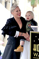 LOS ANGELES - FEB 5:  Pink, Jameson Hart at the Pink Star Ceremony on the Hollywood Walk of Fame on February 5, 2019 in Los Angeles, CA