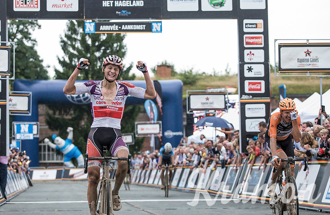winner Mathieu Van der Poel (NED/Beobank-Corendon) after finishing <br /> <br /> 2nd Dwars door het Hageland 2017 (UCI 1.1)<br /> Aarschot > Diest : 193km