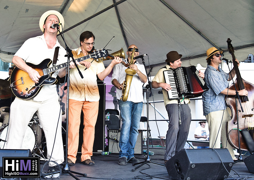 Alex McMurray and friends (including the Klezmer Allstars) playing at Jazz Fest 2011 in New Orleans, LA on day 5.
