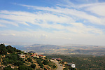 Israel, Upper Galilee, Moshav Amirim overlooking the Sea of Galilee