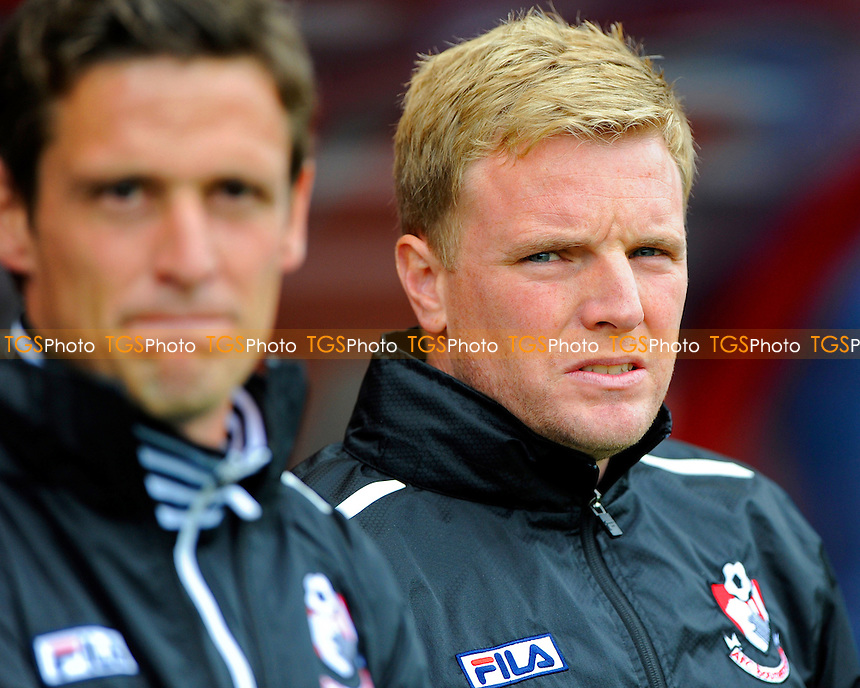 A tense looking AFC Bournemouth Manager Eddie Howe - AFC Bournemouth vs Blackburn Rovers - Sky Bet Championship Football at the Goldsands Stadium, Bournemouth, Dorset - 28/09/13 - MANDATORY CREDIT: Denis Murphy/TGSPHOTO - Self billing applies where appropriate - 0845 094 6026 - contact@tgsphoto.co.uk - NO UNPAID USE