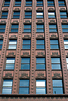Louis Sullivan: Guaranty Bldg. Upper facade.  Photo '88.