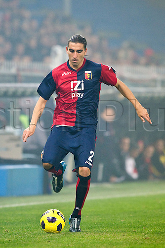 29.10.2010 Moreno Chico Flores (Genoa). Football : Italian Serie A 2010-2011, match between  Genoa and Inter Milan at Luigi Ferraris Stadium, Genova, Italy,