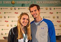 Februari 09, 2015, Netherlands, Rotterdam, Ahoy, ABN AMRO World Tennis Tournament, Isolde de Jong with Andy Murray<br /> Photo: Tennisimages/Henk Koster