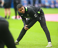 12th January 2020; Cardiff City Stadium, Cardiff, Glamorgan, Wales; English Championship Football, Cardiff City versus Swansea City; Rhian Brewster of Swansea City stretches during warm up - Strictly Editorial Use Only. No use with unauthorized audio, video, data, fixture lists, club/league logos or 'live' services. Online in-match use limited to 120 images, no video emulation. No use in betting, games or single club/league/player publications