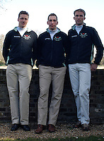PUTNEY, LONDON, ENGLAND, 06.03.2006, Cambridge's German international oarsman, left Sebastian Schulte, Sebastian Thormann and Thorsten Englemann, at the 2006 Presidents Challenge and Boat Race Crew announcement, held at the Winchester Club.   © Peter Spurrier/Intersport-images.com..[Mandatory Credit Peter Spurrier/ Intersport Images] Varsity:Boat Race