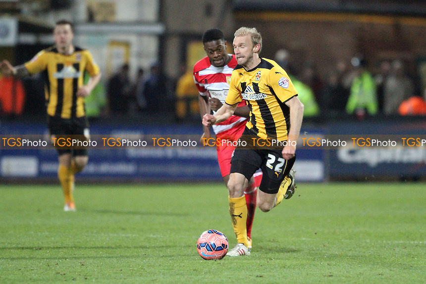 Luke Chadwick of Cambridge United gets away from Rakish Bingham of Mansfield Town - Cambridge United vs Mansfield Town -FA Challenge Cup 2nd Round Football at the Abbey Stadium, Cambridge - 06/12/14 - MANDATORY CREDIT: Mick Kearns/TGSPHOTO - Self billing applies where appropriate - contact@tgsphoto.co.uk - NO UNPAID USE