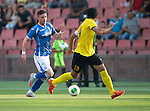 Alashkert FC v St Johnstone...02.07.15   Republican Stadium, Yerevan, Armenia....UEFA Europa League Qualifier.<br /> Michael O'Halloran is closed down by Vahagn Minasyan<br /> Picture by Graeme Hart.<br /> Copyright Perthshire Picture Agency<br /> Tel: 01738 623350  Mobile: 07990 594431