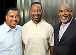 From left: Malcolm Sykes, Lenny Jones and Forde McWilliams at the Champagne & Ribs event at the Contemporary Arts Museum Thursday May 13,2010.  (Dave Rossman Photo)