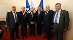 Palestinian Prime Minister Mohammad Ishtayeh, meets with Guy Ryder, the Director-General of the International Labor Organization (ILO), in Geneva, Switzerland, on June 13, 2019. Photo by Prime Minister Office
