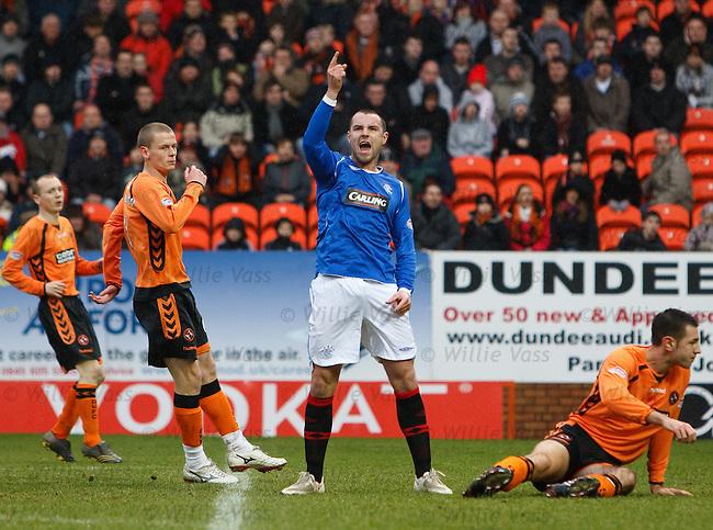 Kris Boyd celebrates his first half goal