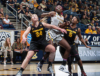 Gennifer Brandon of California in action during the game against Arizona State at Haas Pavilion in Berkeley, California on February 16th, 2014.  California defeated Arizona State, 74-63.