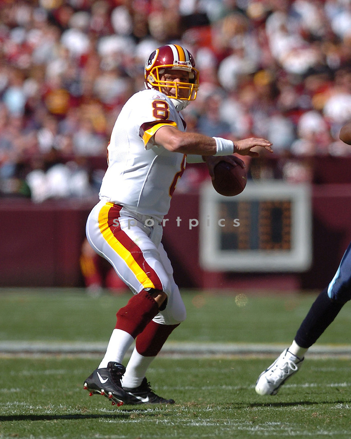 MARK BRUNELL of the Washington Redskins in action against the Tennessee Titans on October 15, 2006 at FedEx Field...Titans win 25-22..Tomasso DeRosa / SportPics