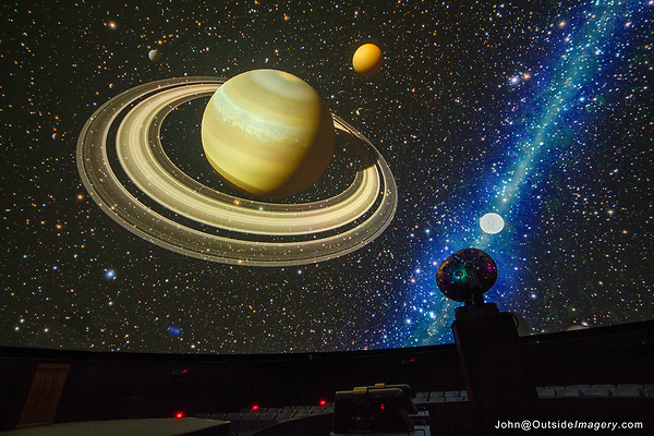 Saturn, Fiske Planetarium, John Kieffer photographer, University of Colorado.