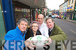 Cheering on Jonathan Sexton whos family is from Listowel who has gotten his starting place on the Ireland rugby team who play England on Saturday from left are Billy Keane Jonathans Godfather, Brenda Sexton Jonathans Grandmother John Sexton Johnathans Uncle and David Fitzmaurice Listowel Rugby Club.