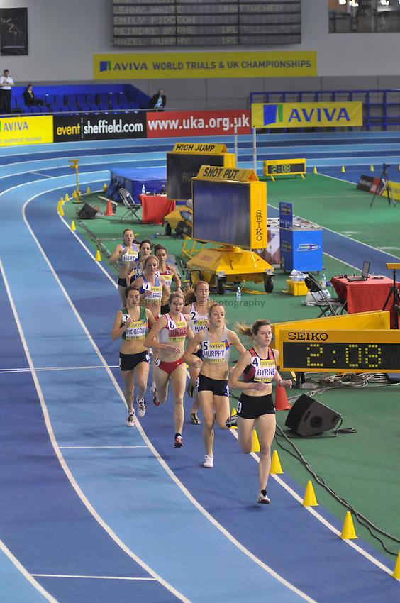 Photo: Tony Oudot/Richard Lane Photography. Aviva World Trials & UK Championships. 13/02/2010. .Womens 3000m Final..