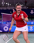 Wales' Sarah Thomas <br /> <br /> Photographer Chris Vaughan/Sportingwales<br /> <br /> 20th Commonwealth Games - Day 6 - Tuesday 29th July 2014 - Badminton - Emirates Arena including the Sir Chris Hoy Velodrome - Glasgow - UK