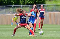 Boyds, MD - Sunday July 31, 2016: Estefania Banini, Raquel Rodriguez during a regular season National Women's Soccer League (NWSL) match between the Washington Spirit and Sky Blue FC at Maureen Hendricks Field, Maryland SoccerPlex.