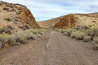 The center line is still visible on the abandoned US 40 roadbed over Golcanda Summit in Nevada