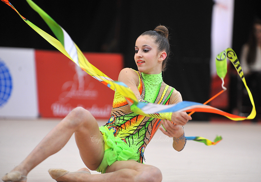 "February 8, 2014 - Tartu, Estonia - ELENI KELAIDITI (2000 junior) from Greece performs at ""Miss Valentine 2014"" international tournament."