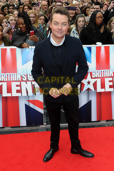 LONDON, ENGLAND - FEBRUARY 11: Stephen Mulhern attends Britain's Got Talent London Auditions in Hammersmith on February 11, 2014 in London, England. <br /> CAP/CJ<br /> &copy;Chris Joseph/Capital Pictures