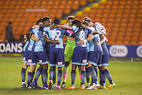 pre match Wycombe team huddle during the The Checkatrade Trophy match between Blackpool and Wycombe Wanderers at Bloomfield Road, Blackpool, England on 10 January 2017. Photo by Andy Rowland / PRiME Media Images.