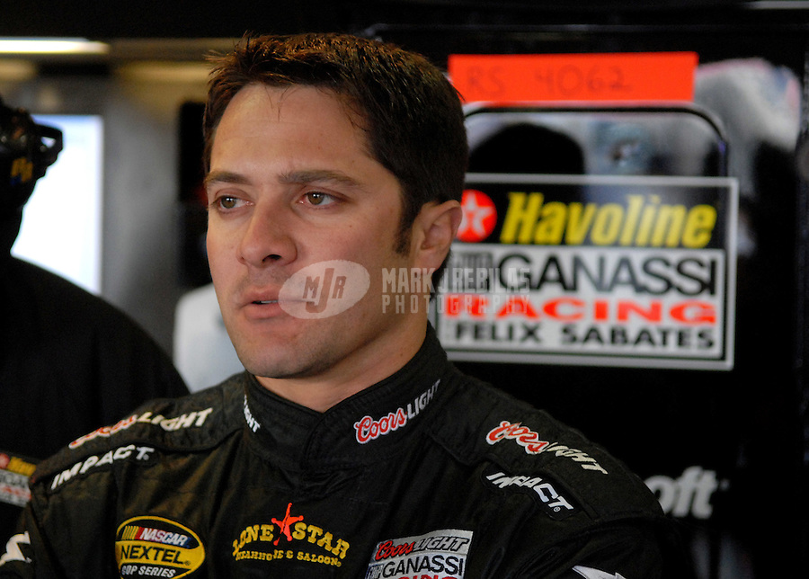 Feb 23, 2007; Fontana, CA, USA; Nascar Nextel Cup Series driver David Stremme (40) during practice for the Auto Club 500 at California Speedway. Mandatory Credit: Mark J. Rebilas