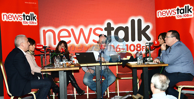 """The Newstalk live broadcast """"Winning back the High Street"""" from William Cairnes at the dHotel. Photo: Andy Spearman. www.newsfile.ie"""