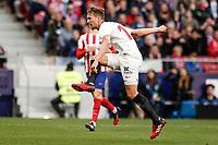 7th March 2020; Wanda Metropolitano Stadium, Madrid, Spain; La Liga Football, Atletico de Madrid versus Sevilla; Luuk de Jong (Sevilla FC)  scores to make it (0,1)