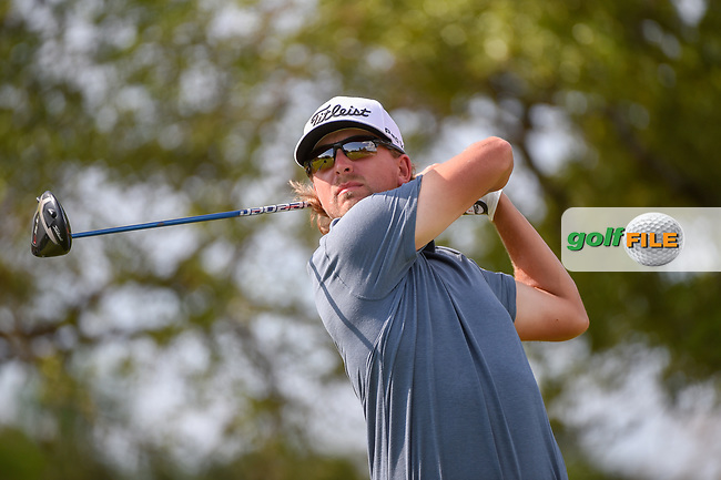 Roger Sloan (CAN) watches his tee shot on 2 during day 1 of the Valero Texas Open, at the TPC San Antonio Oaks Course, San Antonio, Texas, USA. 4/4/2019.<br /> Picture: Golffile   Ken Murray<br /> <br /> <br /> All photo usage must carry mandatory copyright credit (© Golffile   Ken Murray)