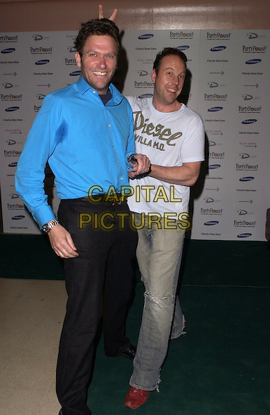 NICK BATEMAN & STUART (BIG BROTHER).At Charity Glam Slam Poker Tournament, .Titanic, Brewer Street, London, England, .April 22nd 2006..full length big brother 1 diesel t-shirt t shirt stewart .Ref: CAN.www.capitalpictures.com.sales@capitalpictures.com.©Can Nguyen/Capital Pictures