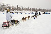 John Barrons team arrives @ Finger Lake Chkpt Finger Lake Alaska 2006 Iditarod