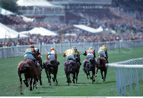 REAR VIEW, Marriot Hotels Goodwood Stakes Handycap, Glorious Goodwood, 990728. Photo: Glyn Kirk/Action Plus...1999.horse racing.equestrian.flat .equestrian sports