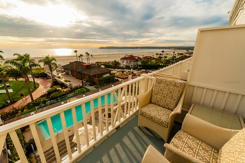 view from balcony hotel del coronado a beachfront luxury hotel coronado island - San Diego Luxury Hotels And Resorts