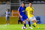 Kitchee Forward Fernando Azevedo Pedreira (L) in action during the Preseason Friendly Match between Kitchee and Buriram United at Mong Kok Stadium on August 18, 2018 in Hong Kong. Photo by Marcio Machado/Photo by Marcio Machado/Power Sport Images