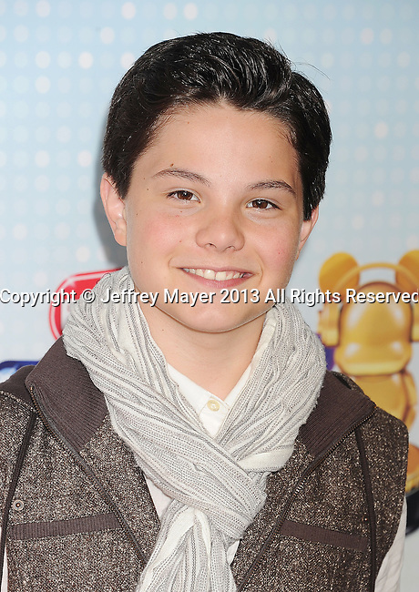 LOS ANGELES, CA- APRIL 27: Actor Zach Callison arrives at the 2013 Radio Disney Music Awards at Nokia Theatre L.A. Live on April 27, 2013 in Los Angeles, California.