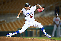 Glendale Desert Dogs pitcher Ralston Cash (97), of the Los Angeles Dodgers organization, during a game against the Salt River Rafters on October 19, 2016 at Camelback Ranch in Glendale, Arizona.  Salt River defeated Glendale 4-2.  (Mike Janes/Four Seam Images)