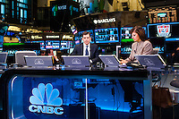 CNBC hosts during the centennial celebration of U. S. Soccer at the New York Stock Exchange in New York, NY, on April 02, 2013.