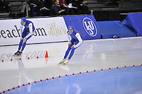 SPEED SKATING: SALT LAKE CITY: 20-11-2015, Utah Olympic Oval, ISU World Cup, 500m, Heather Richardson (USA), Brittany Bowe (USA), ©foto Martin de Jong