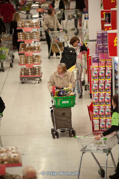 Asda supermarket, Clapham Junction, London.