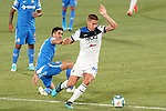 Getafe CF's Markel Bergara (l) and Atalanta BC's Mario Pasalic during friendly match. August 10,2019. (ALTERPHOTOS/Acero)