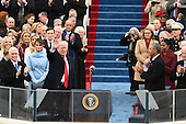 President-elect Donald J. Trump waves as he arrives for his inauguration on January 20, 2017 in Washington, D.C.  Trump becomes the 45th President of the United States.         <br /> Credit: Pat Benic / Pool via CNP